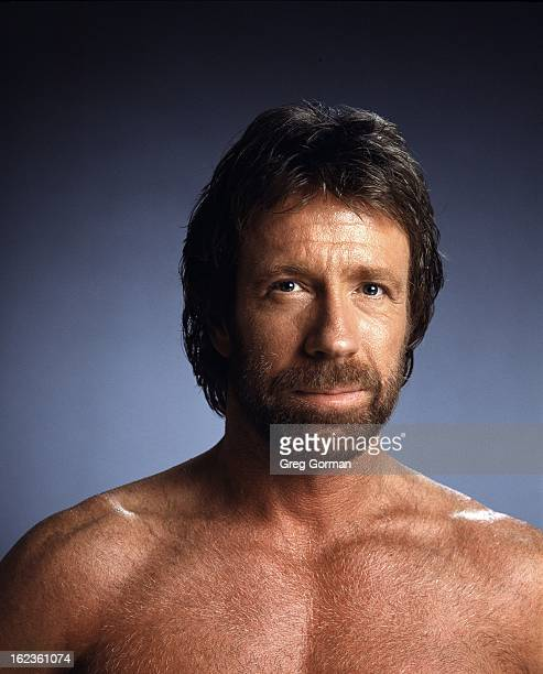 Martial artist and actor Chuck Norris is photographed for Self Assignment on January 1 1990 in Los Angeles California