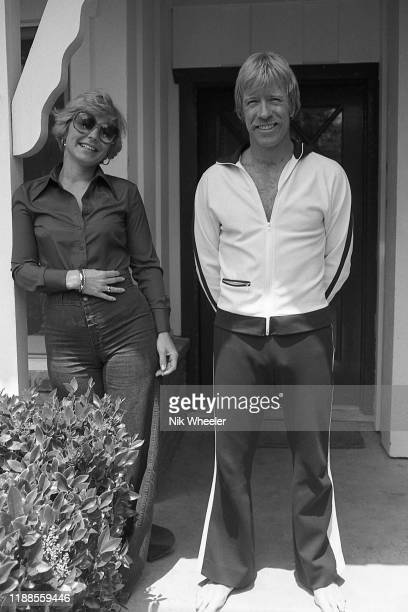 LOS ANGELES JANUARY 1978 Martial artist and star of action movies Chuck Norris at home in Palos Verdes California with his wife Dianne Kay Holechek