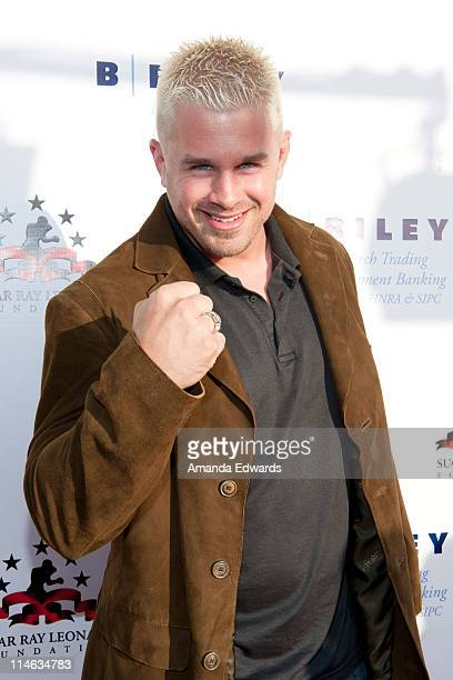Martial artist Daniel Puder arrives at Sugar Ray Leonard's 2nd Annual Big Fighters Big Cause Charity Boxing Night at the Santa Monica Pier on May 24...
