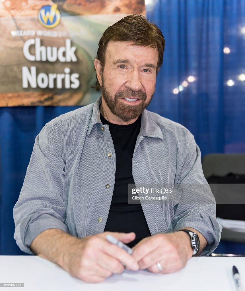 Martial artist/actor Chuck Norris make his Wizard World Comic Con debut during Wizard World Comic Con Philadelphia 2017 - Day 3 at Pennsylvania Convention Center on June 3, 2017 in Philadelphia, Pennsylvania.