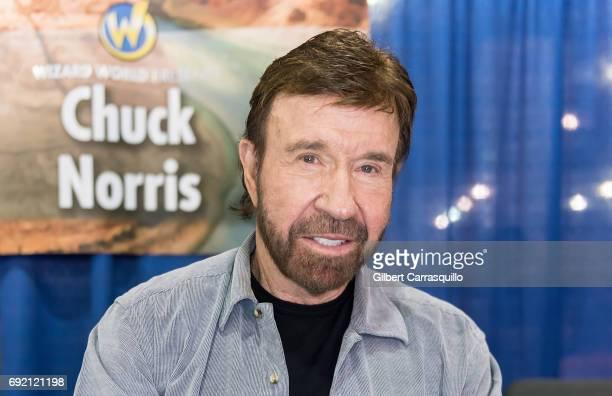 Martial artist/actor Chuck Norris make his Wizard World Comic Con debut during Wizard World Comic Con Philadelphia 2017 - Day 3 at Pennsylvania...