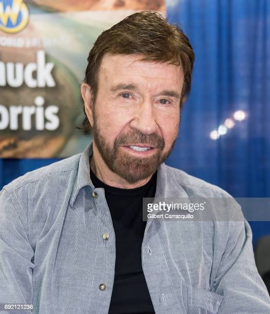 Martial artist/actor Chuck Norris make his Wizard World Comic Con debut during Wizard World Comic Con Philadelphia 2017 Day 3 at Pennsylvania...