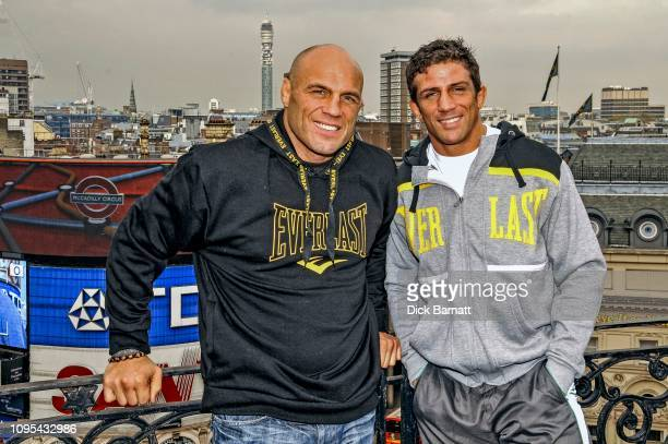 Martial artists Randy Couture and Alex Reid London 7th July 2008