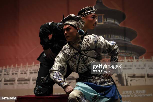 Martial artists seen performing during the 'Chinese New Year Night of Beijing' event The Beijing National Orchestra holds the Chinese New Year Night...