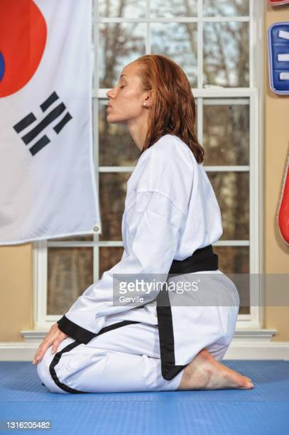 martial arts and meditation - gerville stock pictures, royalty-free photos & images