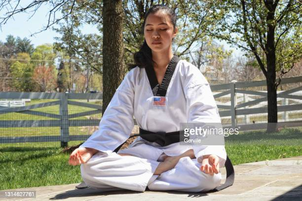 martial arts calm - gerville stock pictures, royalty-free photos & images