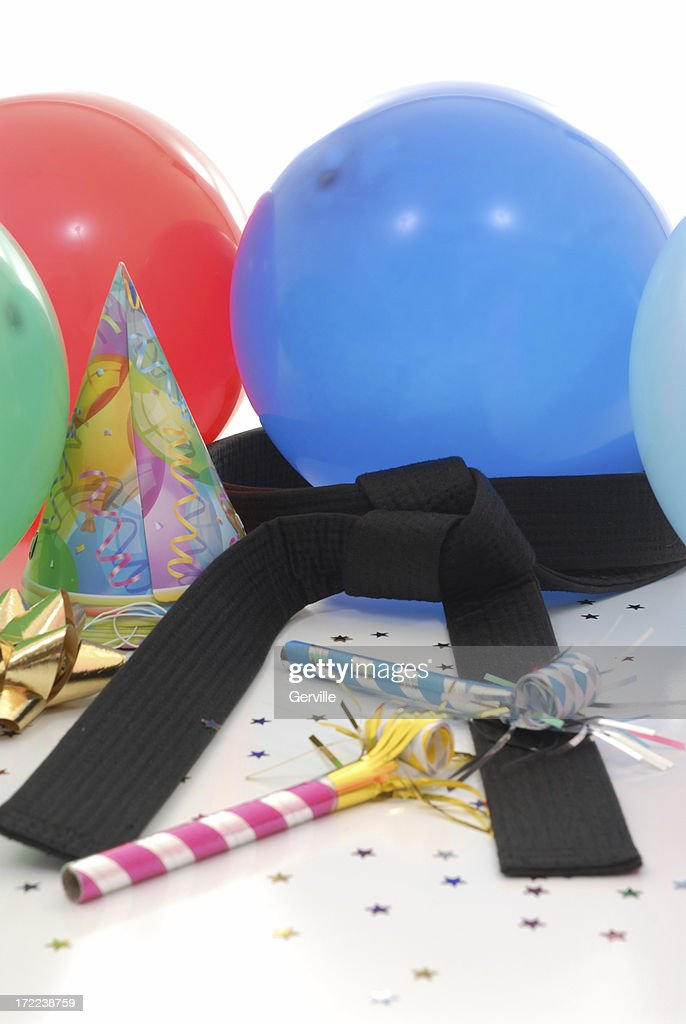 Martial arts celebration : Stock Photo
