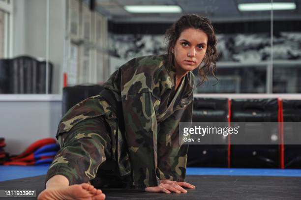 martial arts sweep - gerville stock pictures, royalty-free photos & images