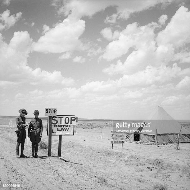 Martial Law on Border Stops Migratory Laborers Colorado USA Arthur Rothstein for Farm Security Administration April 1936
