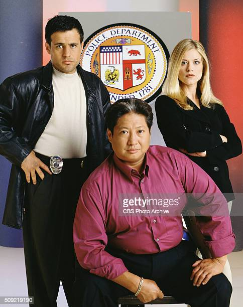 Martial Law the action drama television show From left Louis Mandylor Sammo Hung and Tammy Lauren Image dated July 17 1998