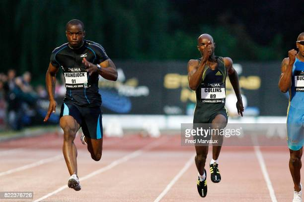 Martial MBANDJOCK / Kim COLLINS 100M Meeting International d'Athletisme de Nancy Stanislas et de l'Alma Athle Tour 2009 Stade Raymond Petit