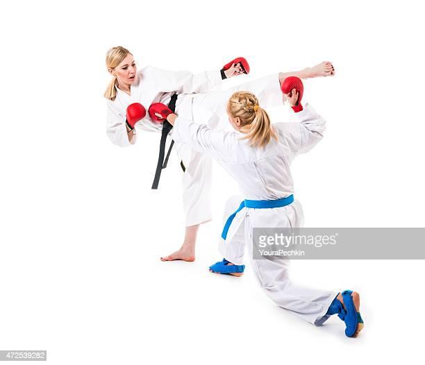 Martial training, zwei Kämpfer