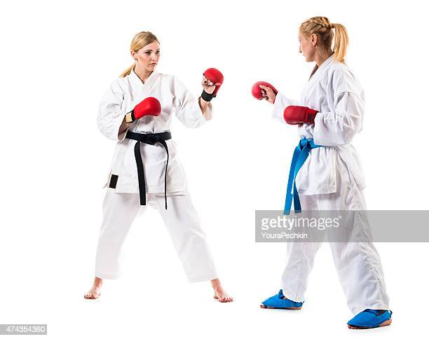 Martial training, two fighters