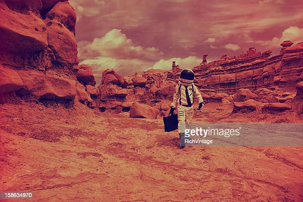 martian commute - mars stock pictures, royalty-free photos & images