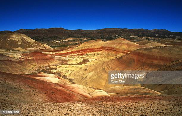 martian landscape painted hills - xuan che stock pictures, royalty-free photos & images