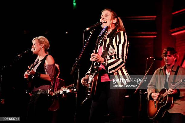 Martie Maguire and Emily Robison of Court Yard Hounds perform at the Union Chapel on November 1 2010 in London England
