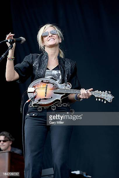 Martie Maguire of Court Yard Hounds performs during the first day of week two of the Austin City Limits Music Festival at Zilker Park on October 11...