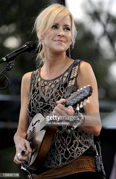 Martie Maguire of the Court Yard Hounds performs as part of the Austin City Limits Music Festival Day Two at Zilker Park on September 17 2011 in...