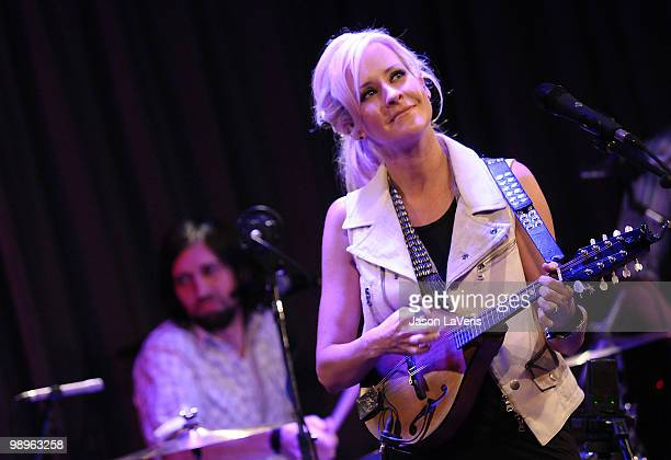Martie Maguire of The Court Yard Hounds performs at The Grammy Museum on May 10 2010 in Los Angeles California