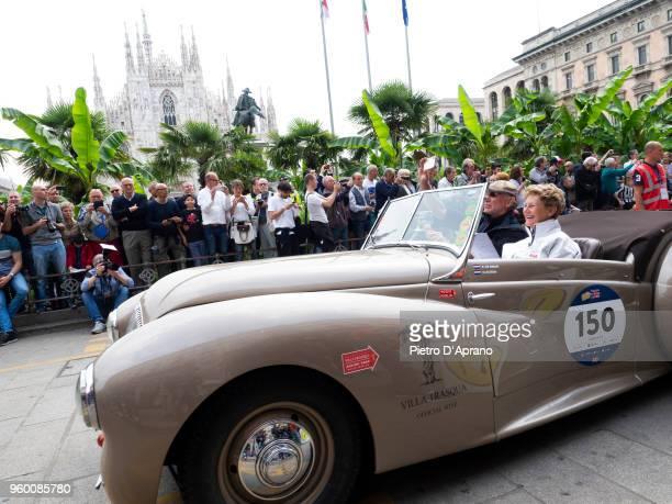 Martien Heinrichs and Bas Van Nieuwenhuijzen attends 1000 Miles Historic Road Race on May 19 2018 in Milan Italy
