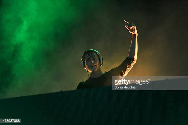 Martijn Garritsen known as the artist Martin Garrix performs at 2015 Bud Light Digital Dreams Electronic Music Festival at The Flats at Ontario Place...
