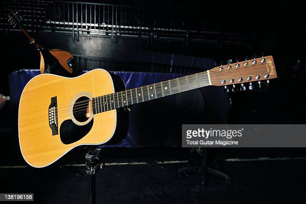 Martin 12string dreadnought acoustic guitar owned by Alex Lifeson of Canadian progressive rock band Rush During a shoot for Total Guitar...