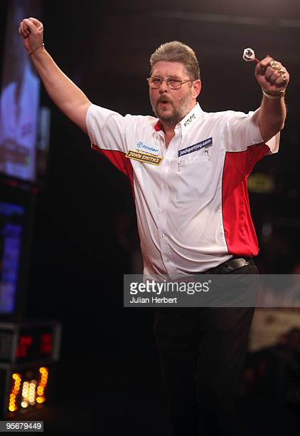 Martin Adams of England after beating Dave Chisnall of England in the Final of The World Professional Darts Championship at The Lakeside on January...