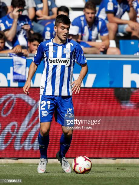 Martin Aguirregabiria of Deportivo Alaves CF during the La Liga Santander match between Deportivo Alaves v Espanyol at the Estadio de Mendizorroza on...