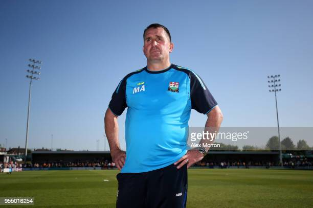 Martin Allen Manager of Barnet poses for a photo after the Sky Bet League Two match between Barnet and Chesterfield at The Hive on May 5 2018 in...