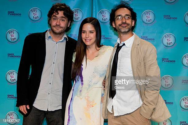 Martin Altomaro Ana Claudia Talancon Bruno Bichir during the press conference to present the second season of Soy Tu Fan Oncetv on october 10 2011 in...
