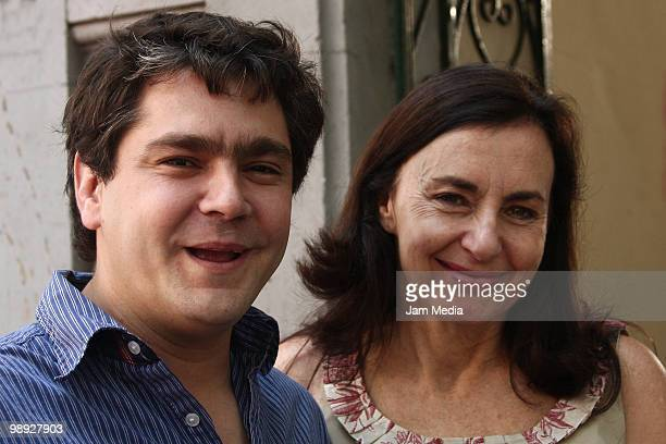 Martin Altomaro and Veronica Langer pose for a photograph during the last day of shooting of TV show 'Soy Tu Fan' at Roma Colony on May 8 2010 in...