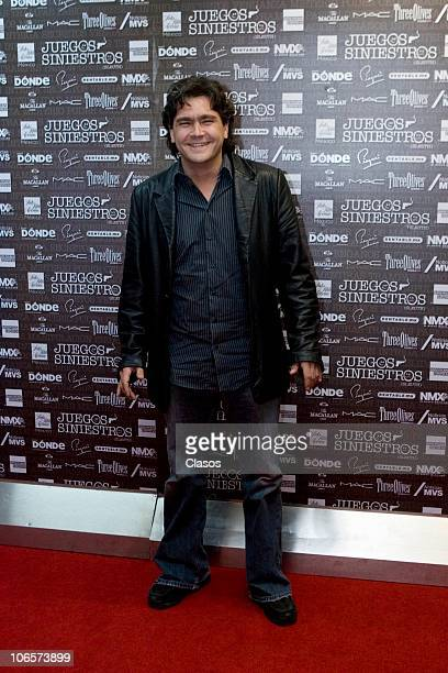 Martin Altomaro at the red carpet of Juegos Siniestros Spectacle at Los Insurgentes Theater on November 4 2010 in Mexico City Mexico
