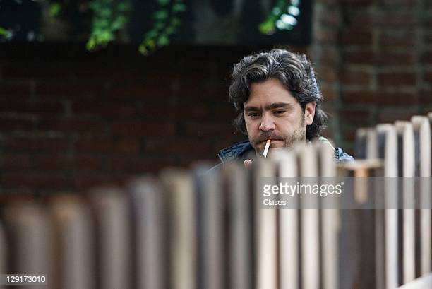 Martin Altomaro during the location of the television serie Soy Tu Fan on October 12 2011 in Mexico City Mexico