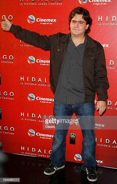Martin Altomaro poses at the arrival of Hidalgo La Historia Jamas Contada premiere on September 13 2010 in Mexico City Mexico