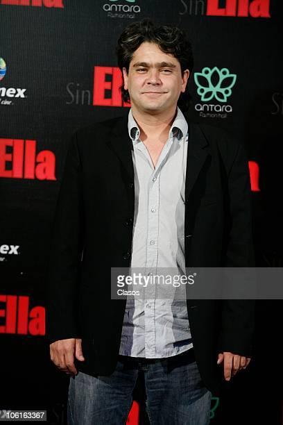 Martin Altomaro poses at the red carpet of Sin Ella movie premiere at Plaza Antara on October 26 2010 in Mexico City Mexico