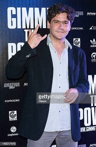 Martin Altomaro poses for a picture during the avant premiere of the documentary about the Mexican rock band Molotov titled Gimme the Power in the...