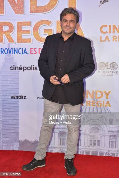 Martin Altomaro poses for photo during 'Cindy La Regia' Red Carpet at Oasis Coyoacan on January 21 2020 in Mexico City Mexico