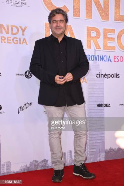 Martin Altomaro poses for photos during a red carpet of 'Cindy la Regia' film premiere at Cinepolis Oasis Coyoacan on January 21 2020 in Mexico City...