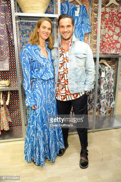 Martin and Dr Jake Deutsch at Launch of La DoubleJ at Bergdorf Goodman at Bergdorf Goodman on April 20 2017 in New York City