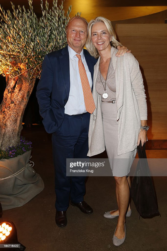 Martin and Eva Schoeller attend the OLIVEDA - Launch Party at Bayerischer Hof on October 15, 2013 in Munich, Germany.