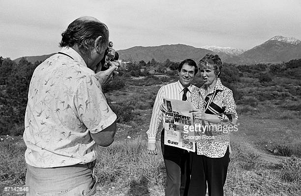 Martin and Janis Weinberger, Publishers of the Claremont Courier newspaper, have their picture taken by Life Magazine photographer Mark Kauffman in...