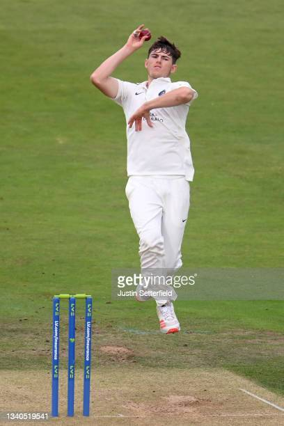 Martin Andersson of Middlesex bowls during the LV= Insurance County Championship match between Middlesex and Worcestershire at Lord's Cricket Ground...