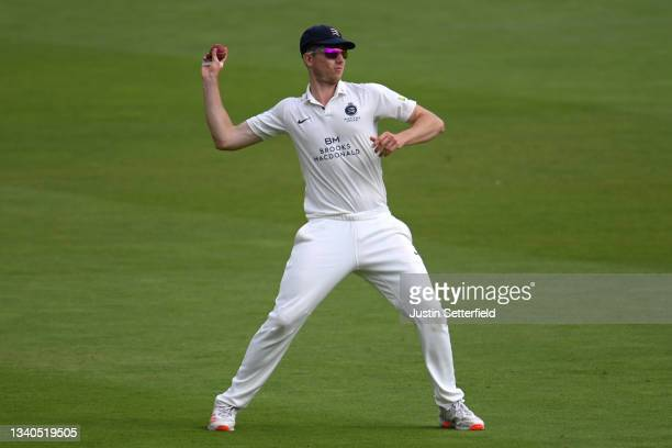 Martin Andersson of Middlesex fields during the LV= Insurance County Championship match between Middlesex and Worcestershire at Lord's Cricket Ground...