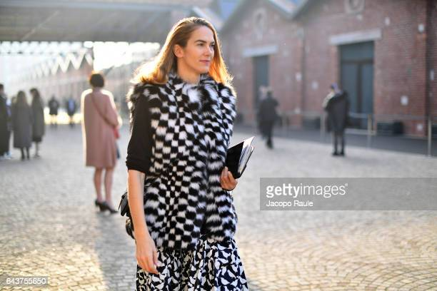 J Martin arrives at the Gucci show during Milan Fashion Week Fall/Winter 2017/18 on February 22 2017 in Milan Italy