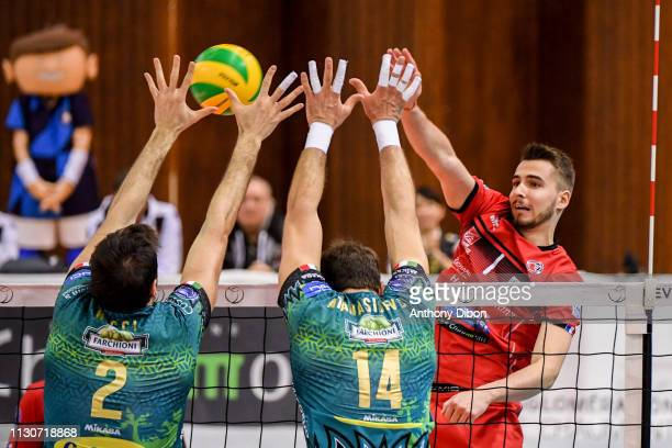 Martin Atanasov of Chaumont during the CEV Champions League match Chaumont 52 and SIR Safety Perugia on March 14 2019 in Reims France