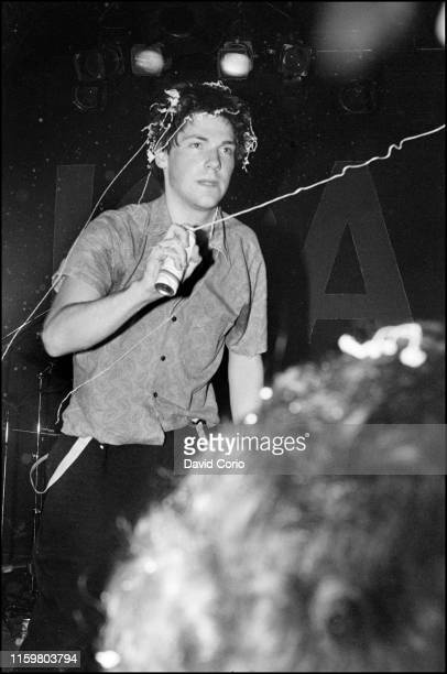 Martin Atkins lead singer of Brian Brain performing at the ICA London United Kingdom 1980