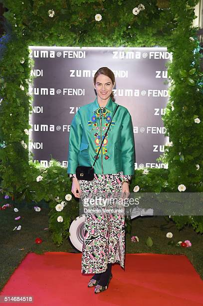 J Martin attends Palazzo FENDI And ZUMA Inauguration on March 10 2016 in Rome Italy