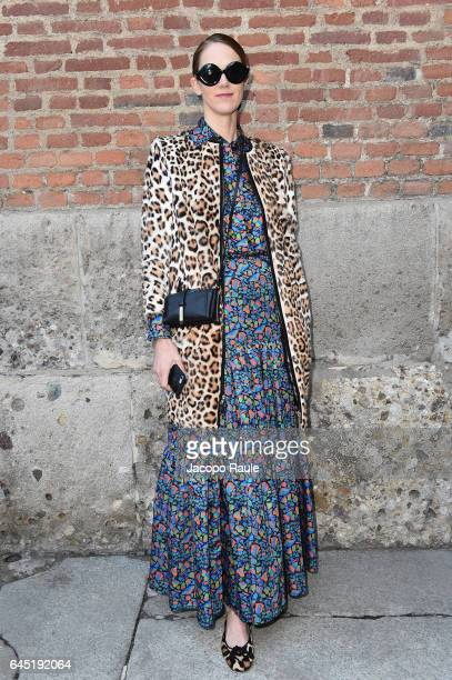 J Martin attends the Bottega Veneta show during Milan Fashion Week Fall/Winter 2017/18 on February 25 2017 in Milan Italy