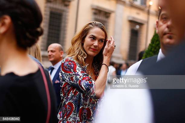 J Martin attends the Fendi Roma 90 Years Anniversary fashion show at Fontana di Trevi on July 7 2016 in Rome Italy