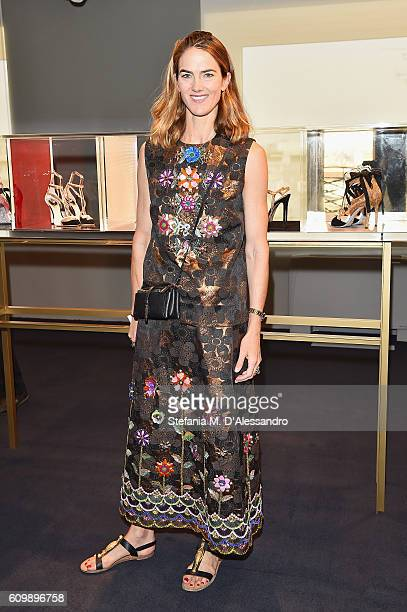 Martin attends the Rene Caovilla Presentation during Milan Fashion Week Spring/Summer 2017 on September 23 2016 in Milan Italy